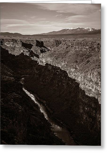 Greeting Card featuring the photograph Rio Grande River Taos by Marilyn Hunt