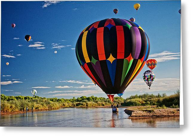 Rio Grande Splash Down, New Mexico Greeting Card