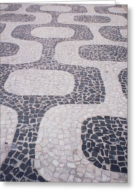 Rio Sidewalk Greeting Card