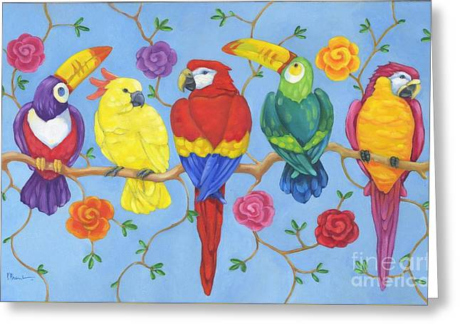 Rio Tropical Birds Greeting Card by Paul Brent