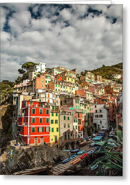 Riomaggiore 1 Greeting Card by Art Ferrier