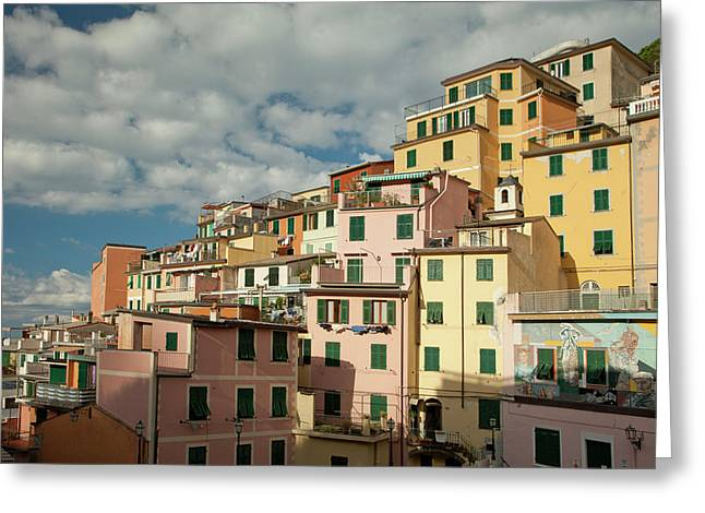 Riomaggiore 2 Greeting Card by Art Ferrier