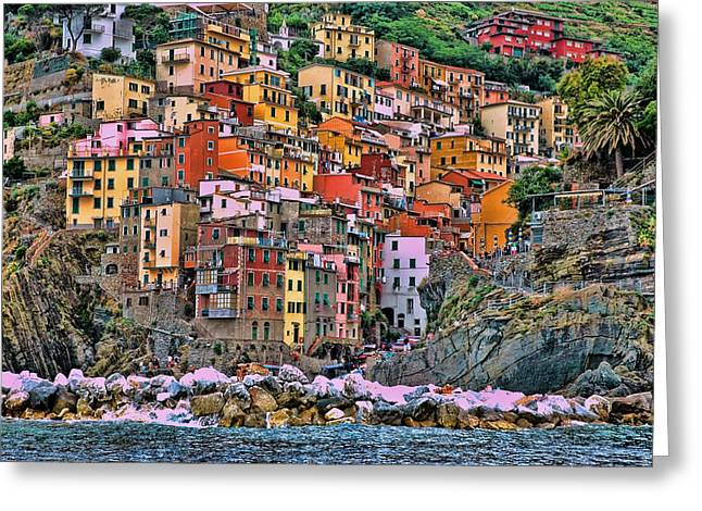 Greeting Card featuring the photograph Riomaggiore by Allen Beatty