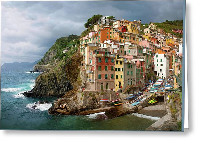 Riomaggiore Italy Greeting Card by Cliff Wassmann
