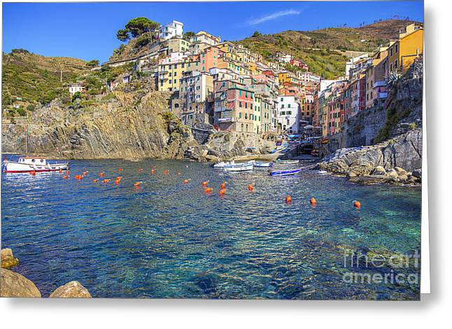 Greeting Card featuring the photograph Riomaggiore by Spencer Baugh