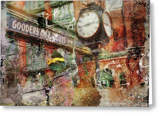 Riot Of Colour Distillery District Greeting Card