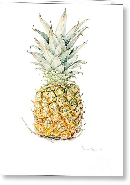 Ripe Pineapple Greeting Card