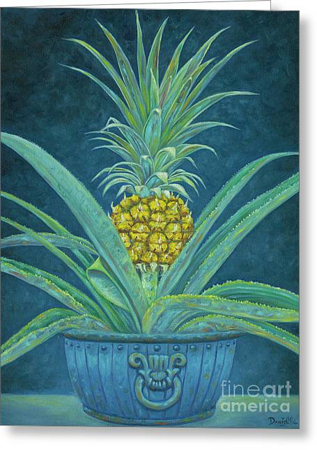 Ripe Pineapple Greeting Card by Danielle Perry
