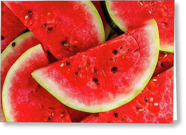 Ripe Slices Of Watermelon Greeting Card