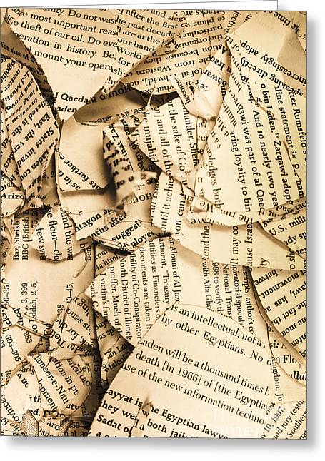Ripped Up Pages Greeting Card