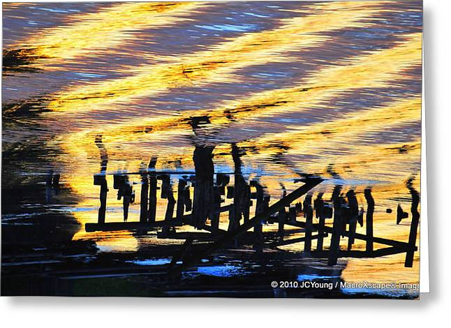 Ripple Effects Of The Day Greeting Card by JCYoung MacroXscape