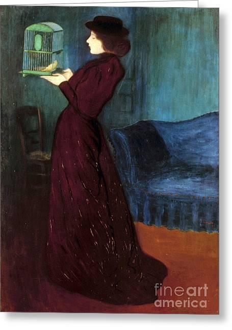 Ripple-ronai: Woman, 1892 Greeting Card by Granger