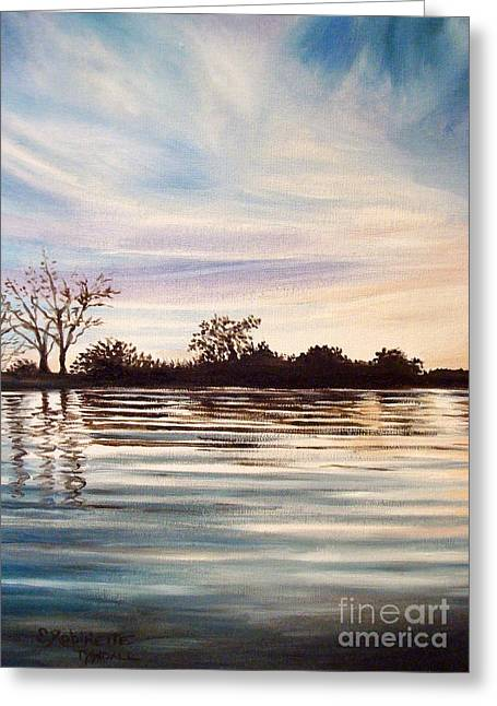 Greeting Card featuring the painting Rippled Glass by Elizabeth Robinette Tyndall