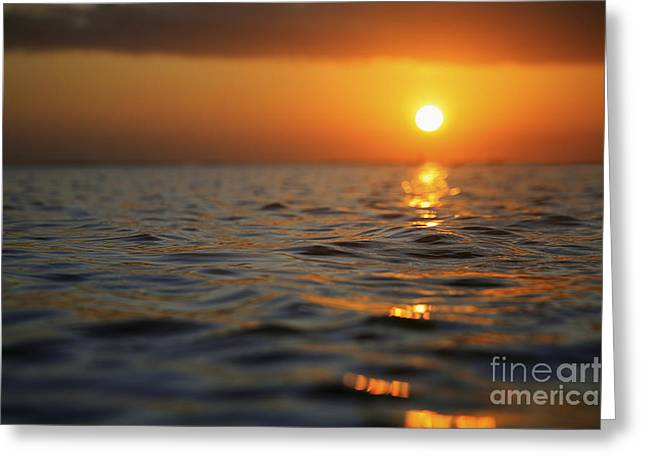 Rippled Sunset Greeting Card by Brandon Tabiolo - Printscapes