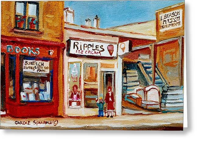 Ripples Icecream  Greeting Card by Carole Spandau