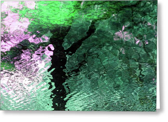 Ripples In Pink Greeting Card by Carolyn Stagger Cokley