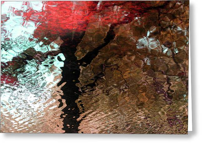 Ripples In Red Greeting Card by Carolyn Stagger Cokley