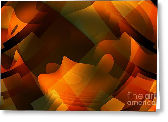 Ripples In The Mind Greeting Card by John Edwards