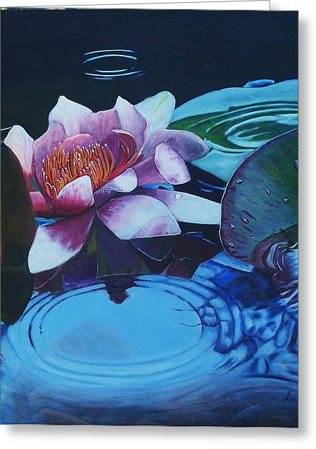 Ripples Greeting Card by Joan Cookson
