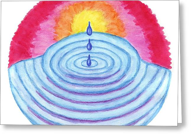 Ripples Of Change Greeting Card by Wendy Hawkins