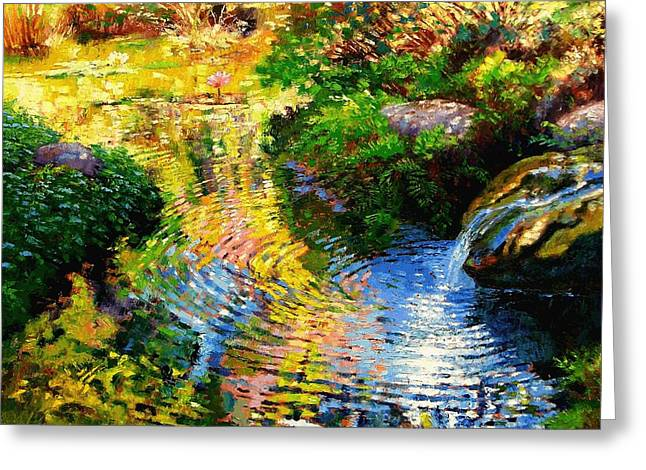 Ripples On A Quiet Pond Greeting Card by John Lautermilch