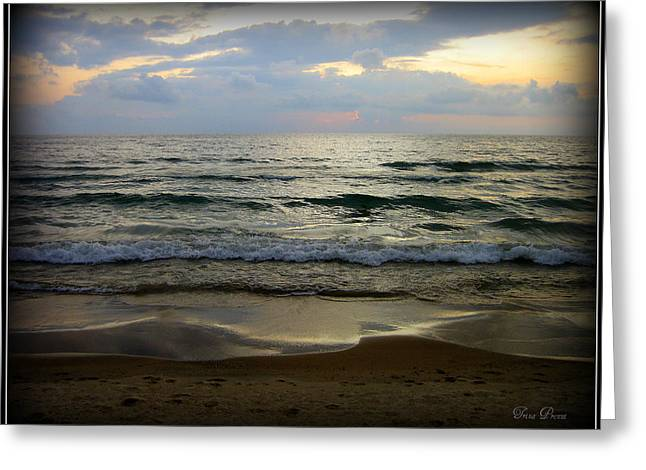 Ripples On The Shore Greeting Card by Trina Prenzi