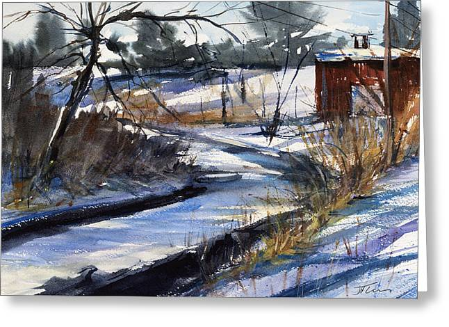 Rippleton Road River Greeting Card by Judith Levins