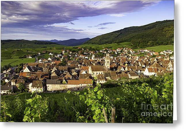 Riquewihr Morning Greeting Card