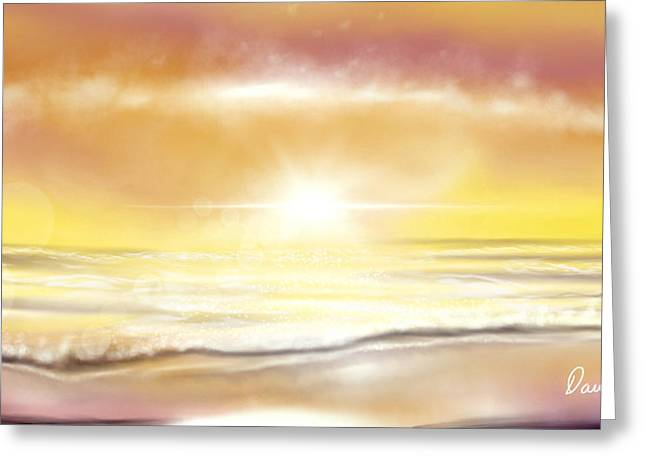 Greeting Card featuring the painting Rise And Shine by Dawn Harrell