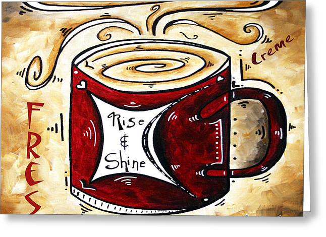 Original Digital Art Greeting Cards - Rise and Shine Original Painting MADART Greeting Card by Megan Duncanson