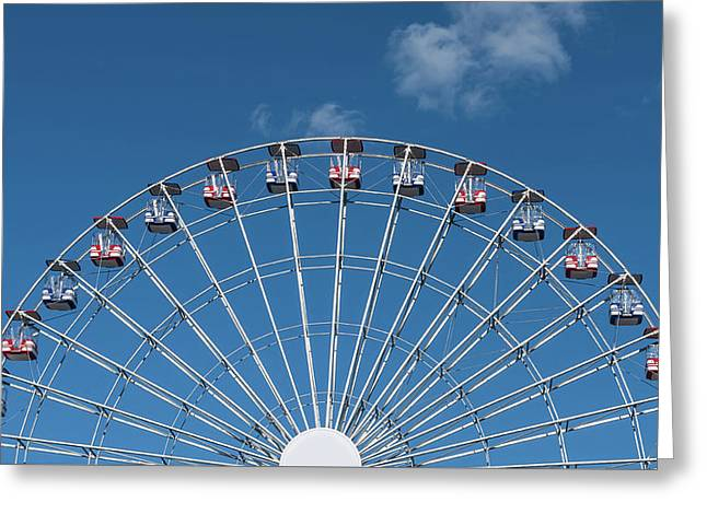 Rise Up Ferris Wheel In The Clouds Seaside Nj Greeting Card by Terry DeLuco