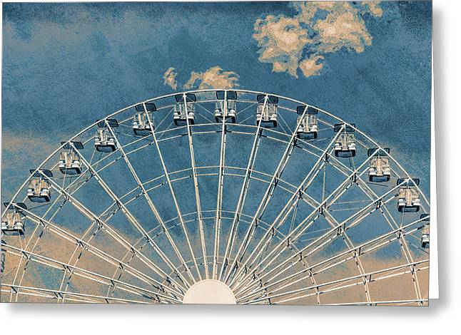 Rise Up Ferris Wheel In The Clouds Greeting Card by Terry DeLuco