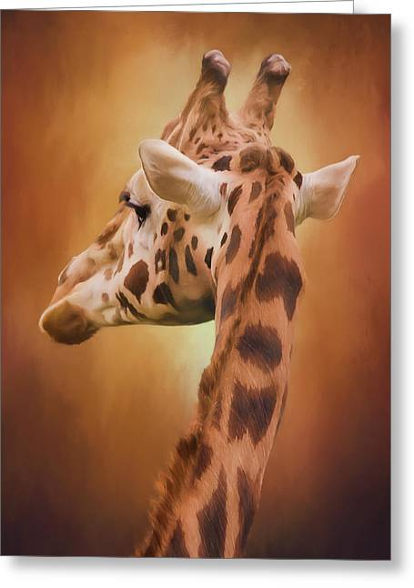 Rising Above - Giraffe Art Greeting Card