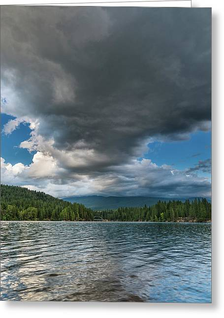 Rising Cloud Above Siskiyou Greeting Card