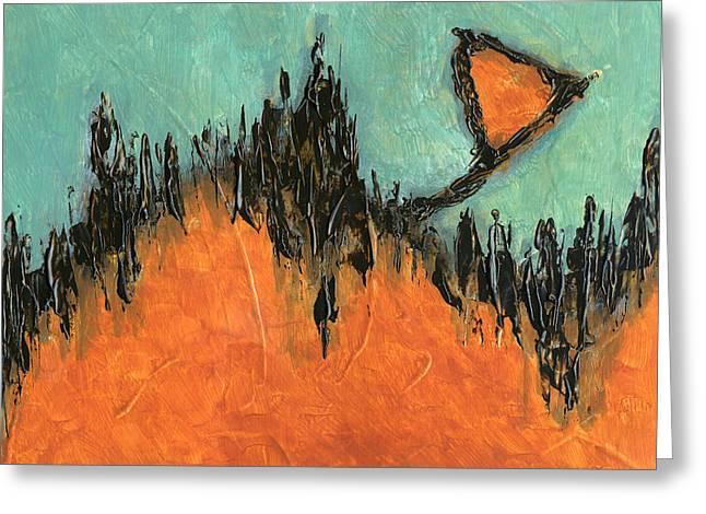 Rising Hope Abstract Art Greeting Card