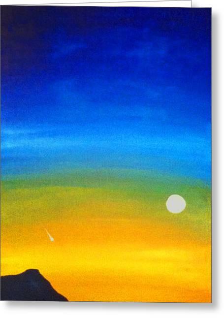 Rising Moon Greeting Card