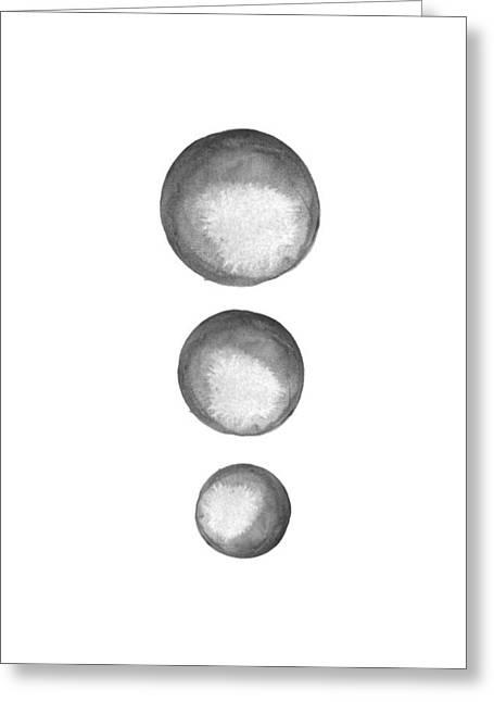 Rising Moons Greeting Card by Nordic Print Studio