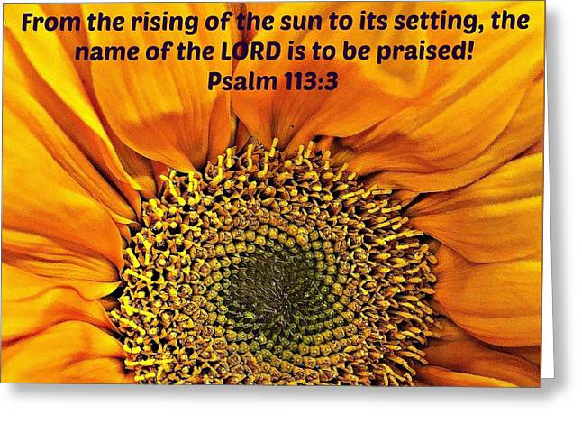 Rising Of The Sun Greeting Card