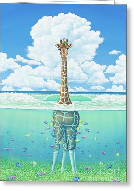 Rising Sea Greeting Card by Elisabeth Sullivan