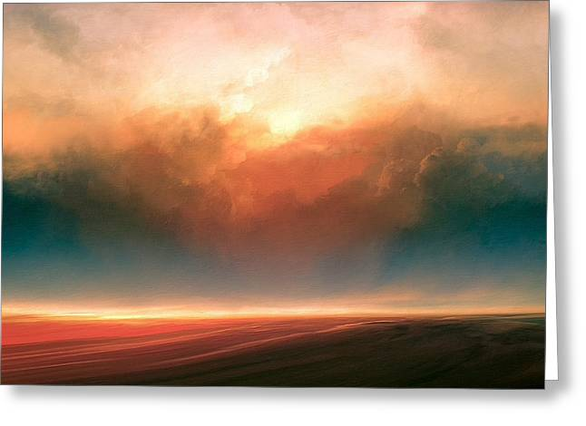 Rising Sun Greeting Card by Lonnie Christopher