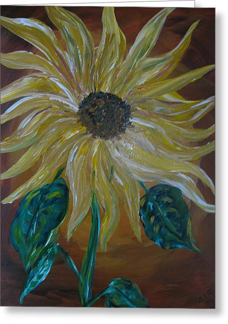 Rising Sunflower Greeting Card by Dennis Poyant