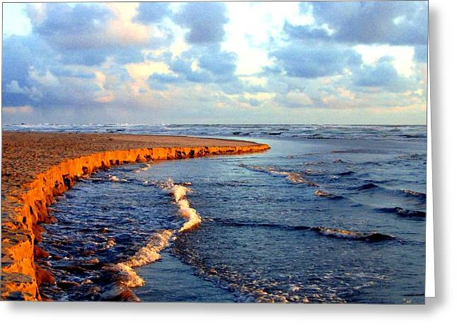 Rising Tide At Sundown  Greeting Card by Will Borden
