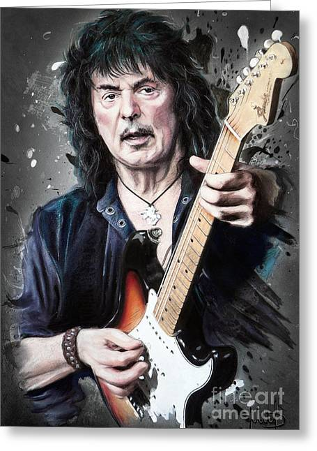 Ritchie Blackmore Greeting Card by Melanie D