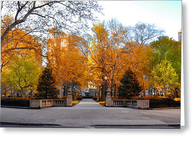 Greeting Card featuring the photograph Rittenhouse Square Philadelphia Pa by Bill Cannon