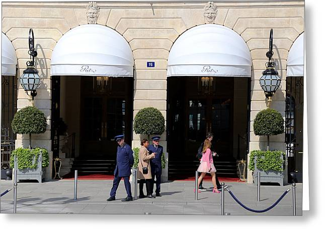 Ritz Hotel Paris Greeting Card