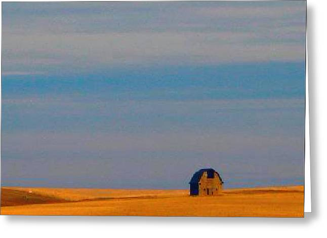 Ritzville Barn Revisited Greeting Card by Robert Morrissey