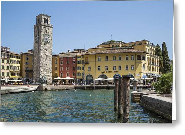 Riva Del Garda Apponale Tower Greeting Card by Melanie Viola