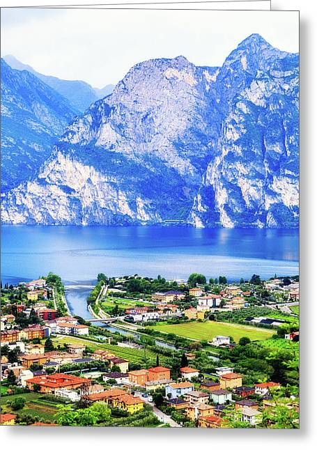 Riva Del Garda - Northern Italy - Vertical Greeting Card