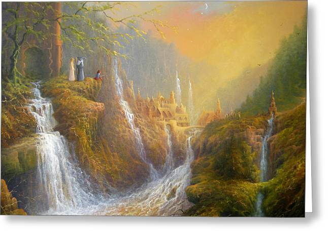 Rivendell Wisdom Of The Elves. Greeting Card by Joe  Gilronan