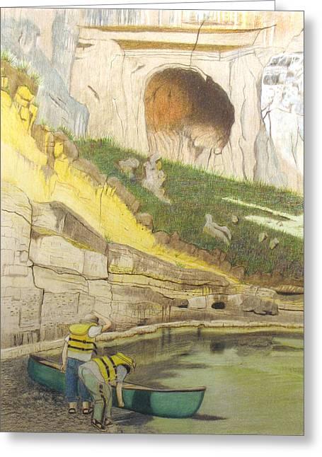 River Adventure Greeting Card by Myrna Salaun